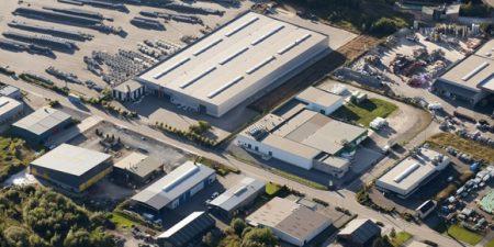 vue aérienne d'une zone industrielle