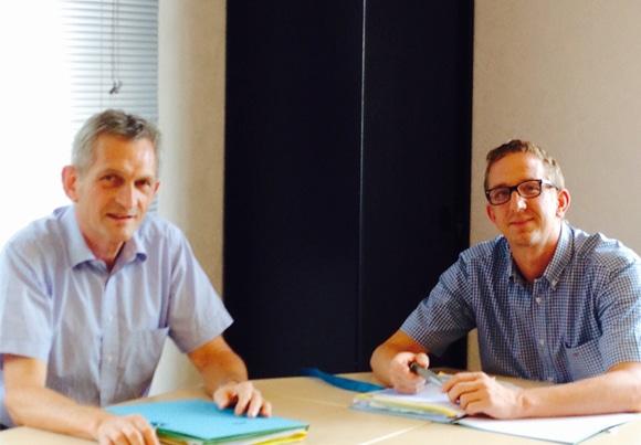 Gaël Dufourt et Damien Erard, associés du cabinet ECC à Vesoul