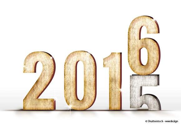 le chiffre 5 de 2015 disparaît pour laisser place au 6 de 2016