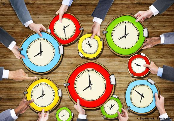 Une multitude d'horloges pour évoquer les 35 heures
