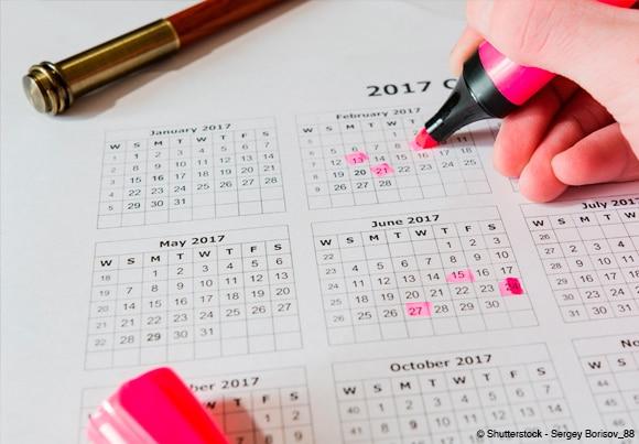 le mois de mai peut compter jusqu'à trois jours fériés chômés